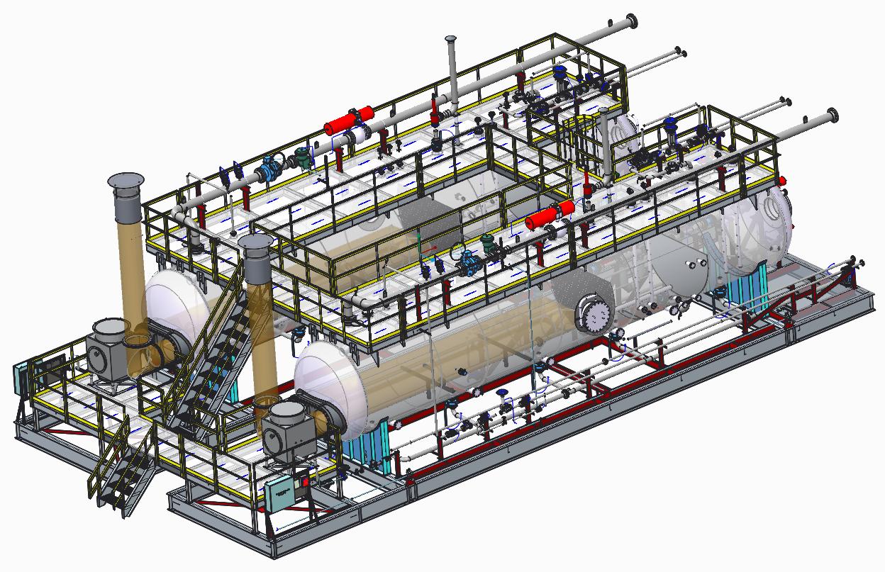 Skidded System 3D Model